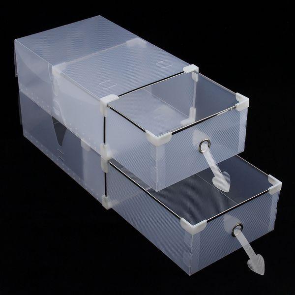 Защелки-клипсы на коробках для обуви