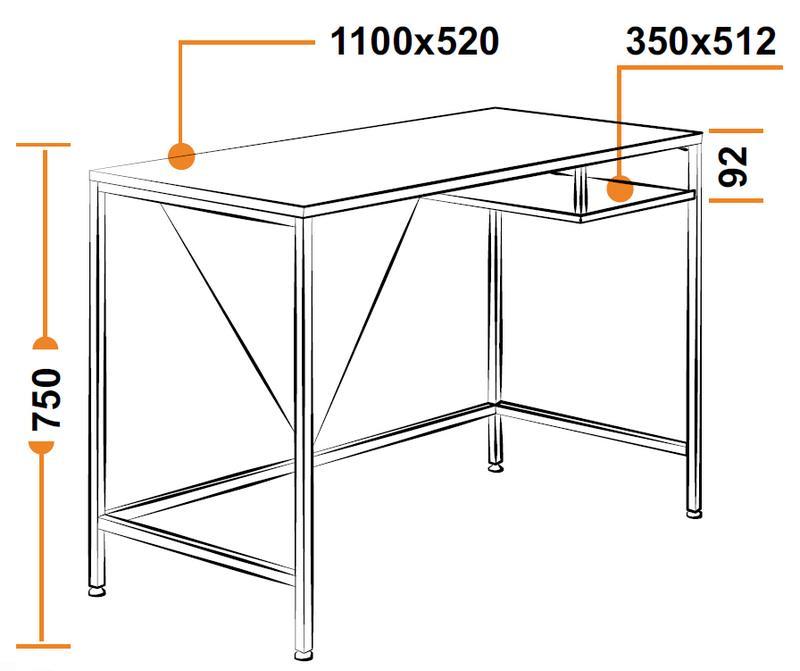 Размеры компьютерного стола WRX-11