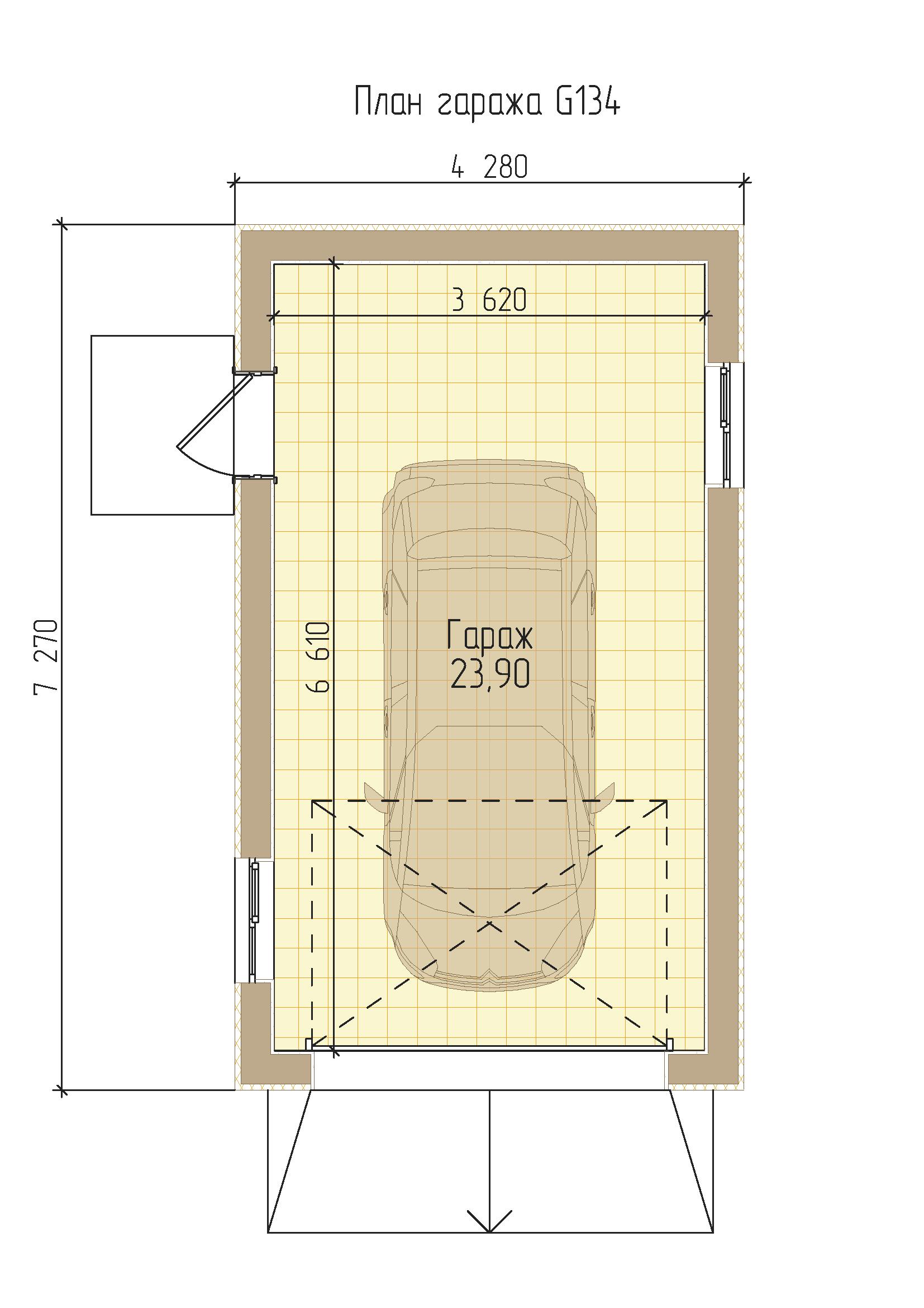 Проект удобного гаража на 1 машину