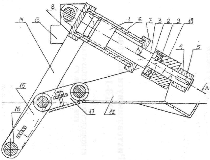 Схема рихтовщика пути винтового РПВ-10
