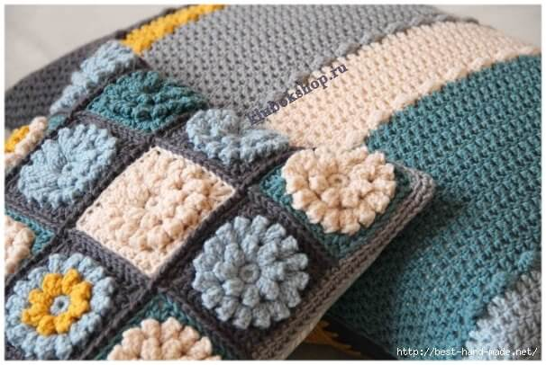 Вязание декоративной подушки
