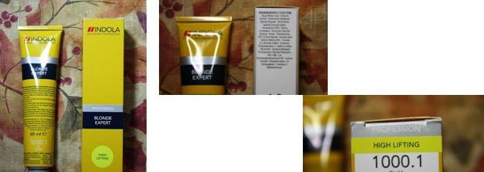 Фотообзор на Indola Blonde Expert средство для осветления волос-1000.1 пепельный