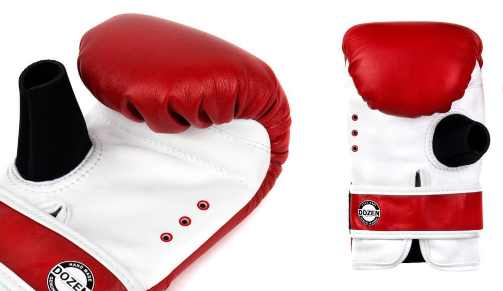 Снарядные перчаткик Dozen Fight Gear красные вентиляция и влагоотвод