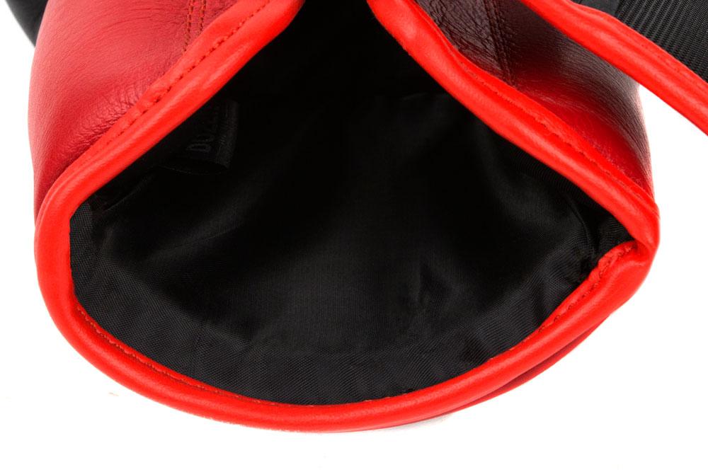 Подкладка черно-красных боксёрских перчаток Dozen Dual Impact