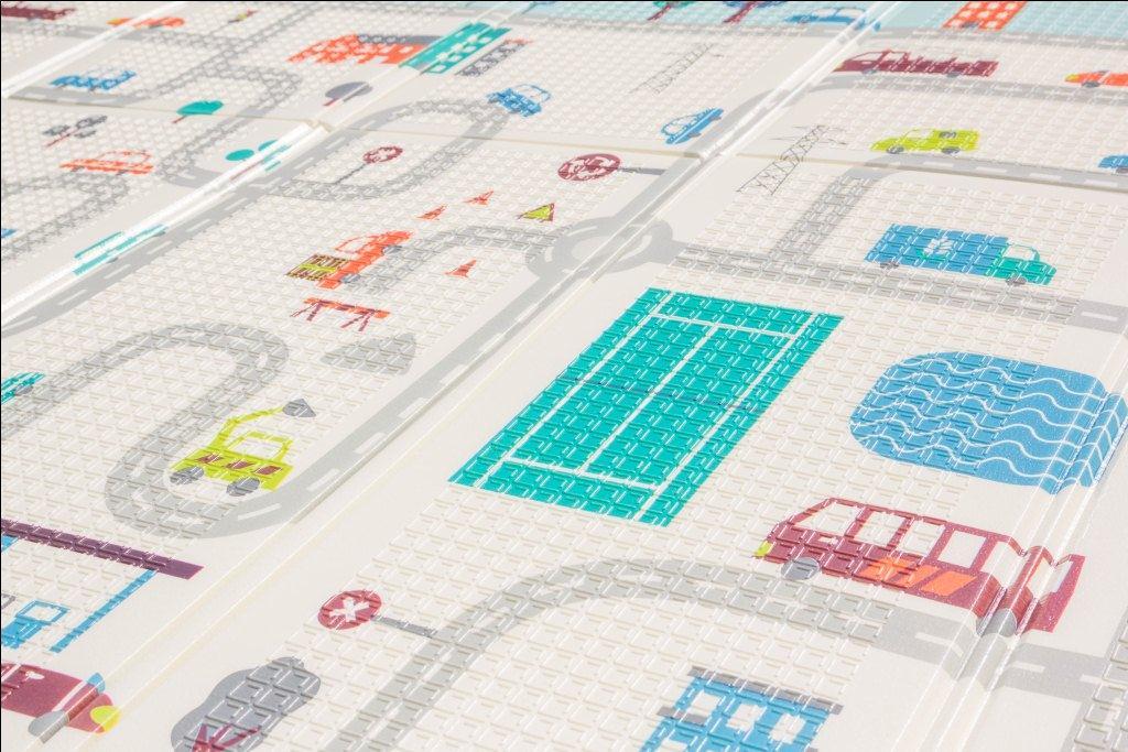 """Складной коврик для детей """"Дороги Лондона""""  двусторонний (200*180*1,5) УТОЛЩЕННЫЙ BABUTKA"""