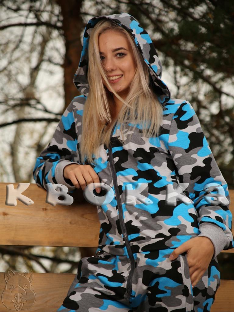 Синий камуфляжный комбинезон от Квокка