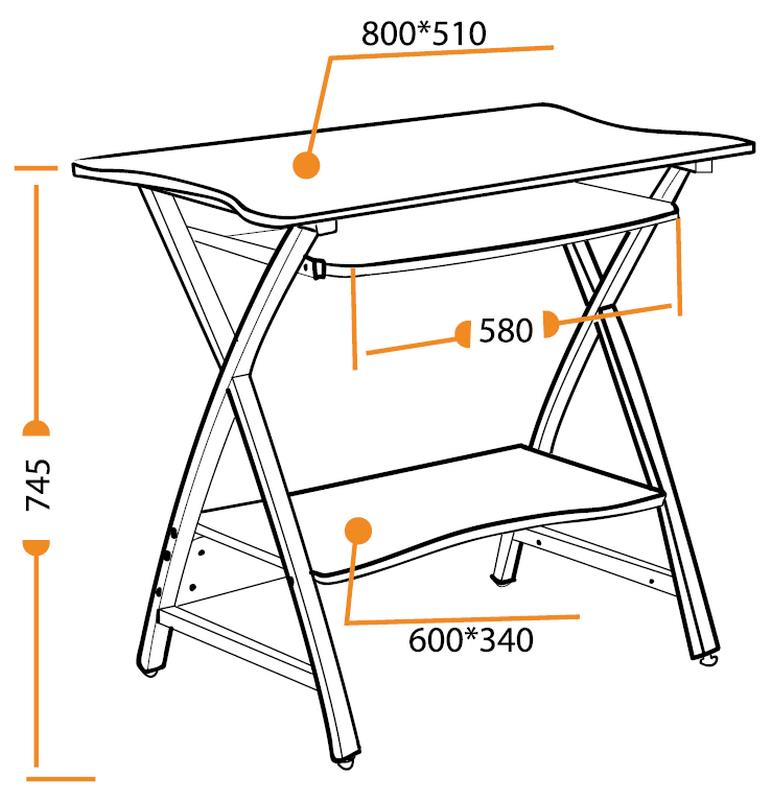 Размеры компьютерного стола Sirius WRX-09