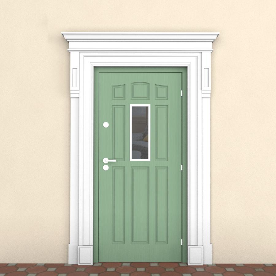 Наличник из пенопласта на входную дверь