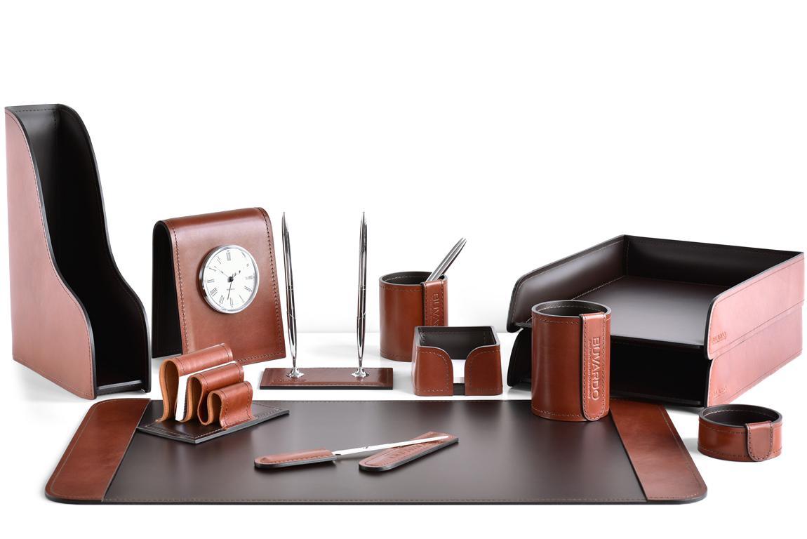 премиум набор в кабинет руководителя на стол кожаный випнабор