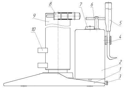 Домкрат путевой гидравлический ДПГ-10 (низкий)