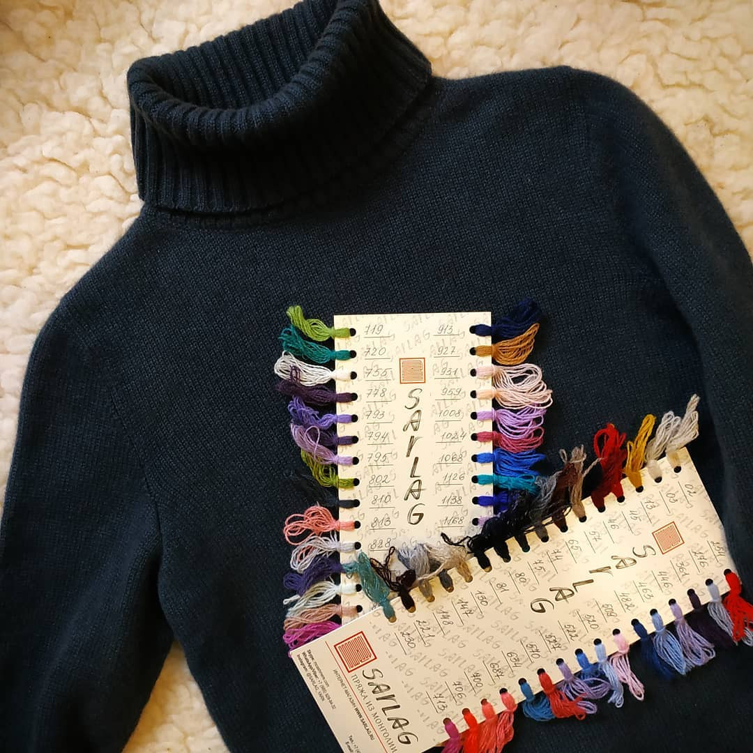 свитер из монгольского кашемира