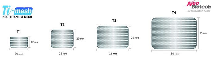 NeoBiotech ti-mesh Титановая сетка