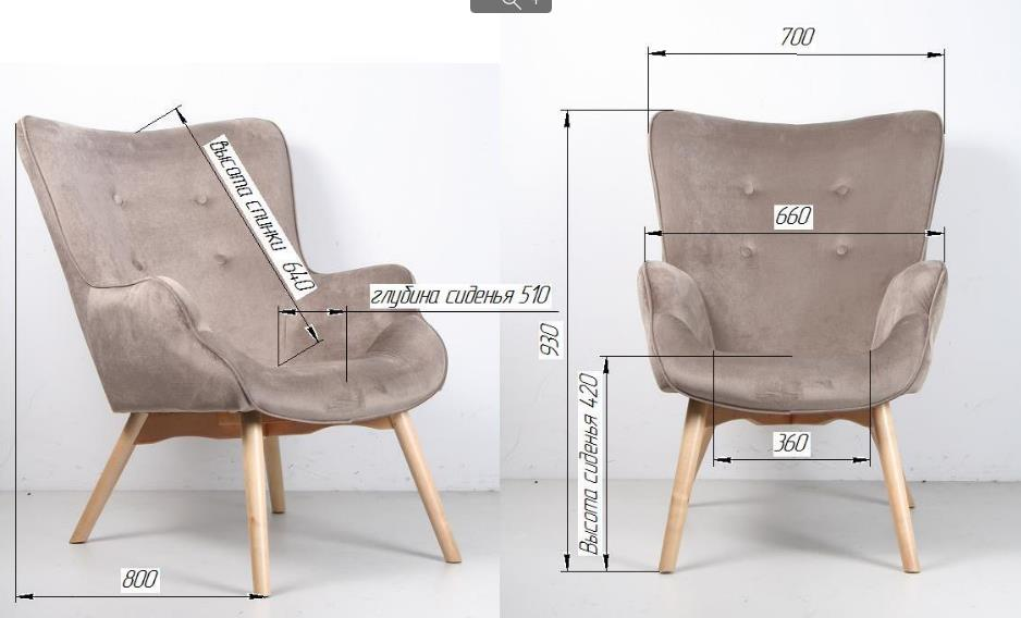 Кресло Граф размеры