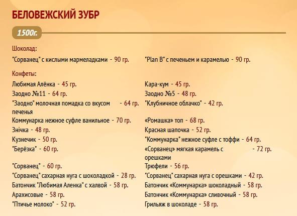 """Новогодний подарок """"Беловежский зубр"""" 1500г. Коммунарка"""