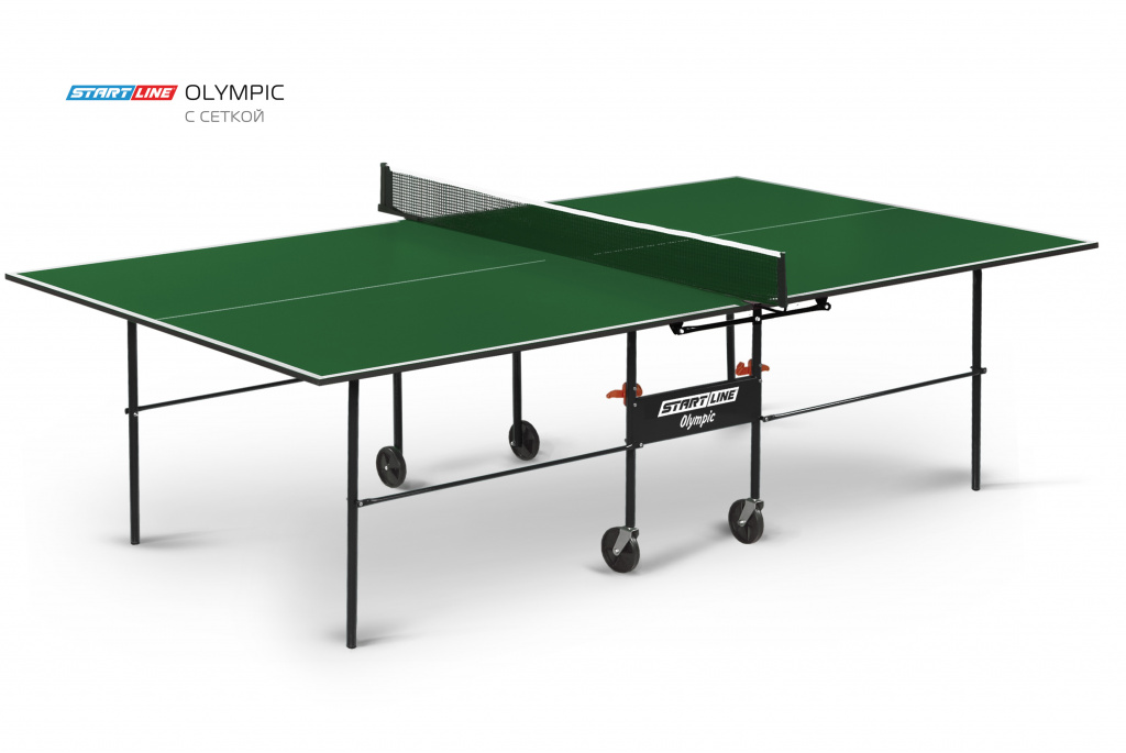 Теннисный стол Start Line Olympic Green с сеткой