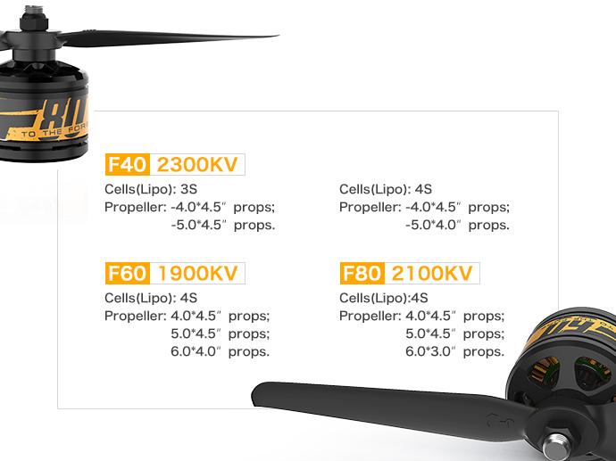Таблица соответствия пропеллеров T-Motor F40 F50 F80