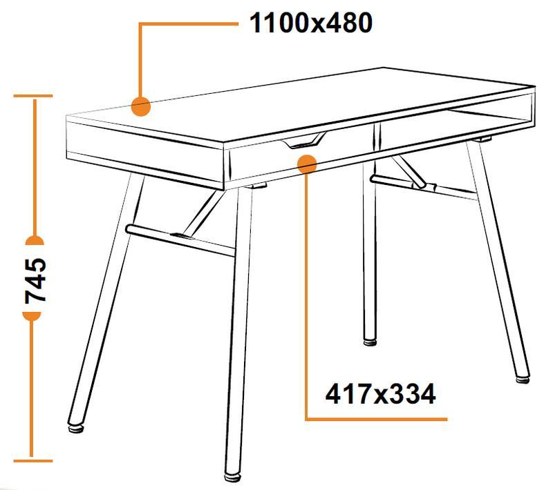 Размеры компьютерного стола WRX-12