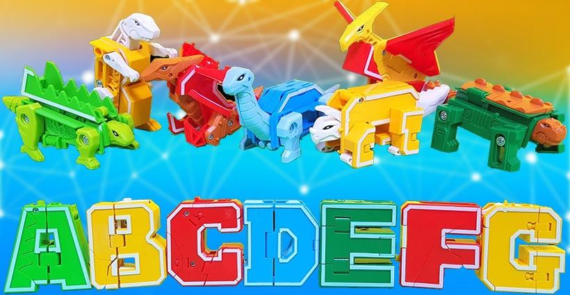 Буквы-трансформеры Lingvo Zoo (Трансботы Лингво Зу)