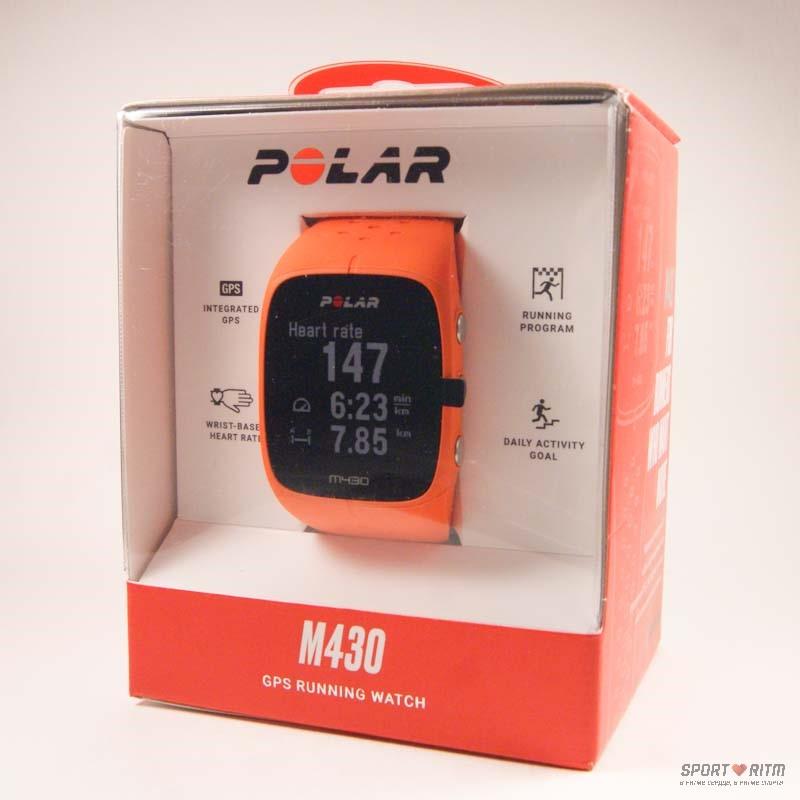 Polar M430 оранжевого цвета в коробке