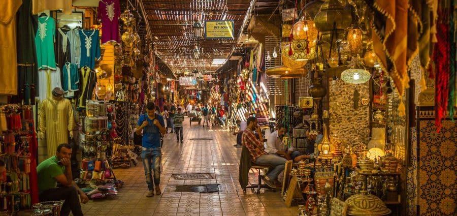 Типичный марокканский базар