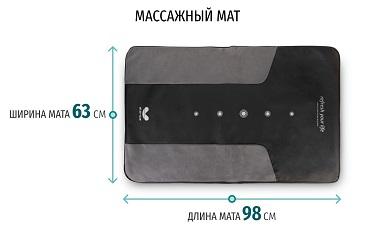 Размеры массажного мата Gapo Alance