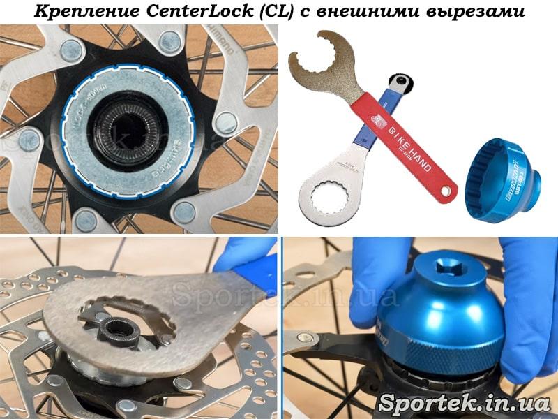 Стопорные кольца CenterLock с внешними вырезами