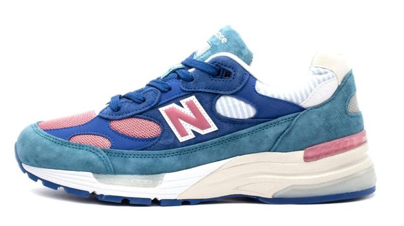 New Balance 992 «Сине-бело-розовый» - 1