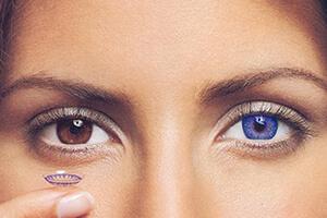цветные контактные линзы влияют на зрение, фото Линзочки