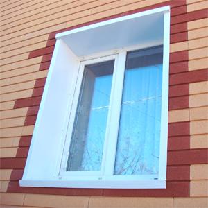 откос окна из ПВХ