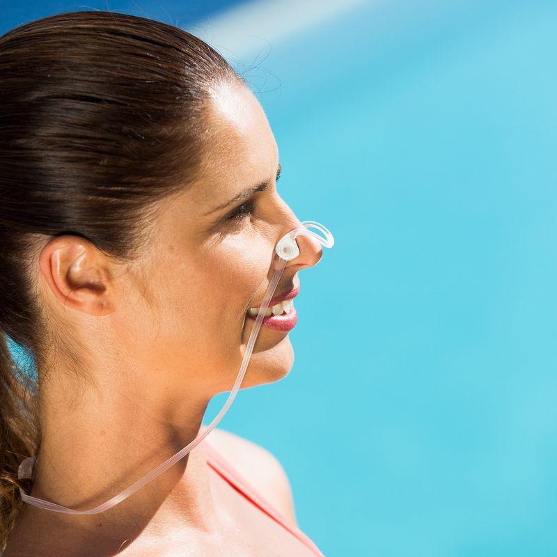Фото зажим для носа для плавания