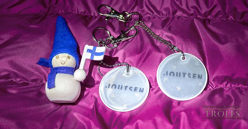Светоотражатели на финском пуховике Joutsen