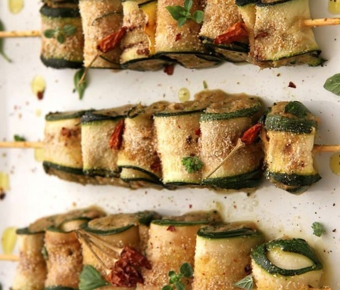 Блюда из кабачков с начинкой из тунца