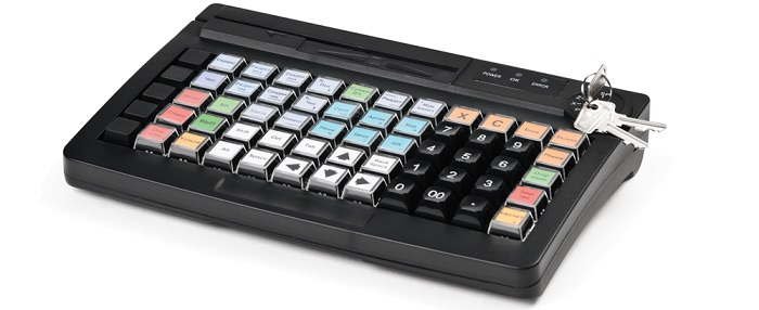 Как выглядит простая кассовая клавиатура