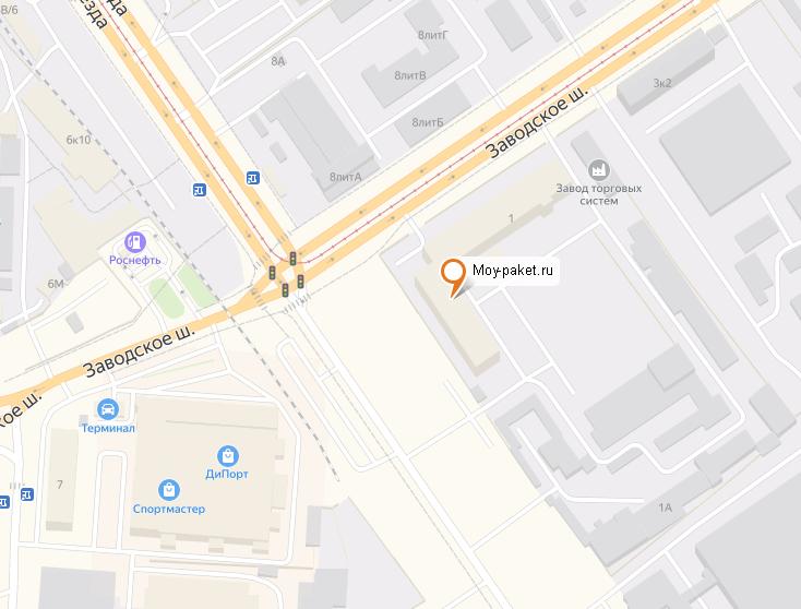 Схема проезда в офис Moy-paket.ru