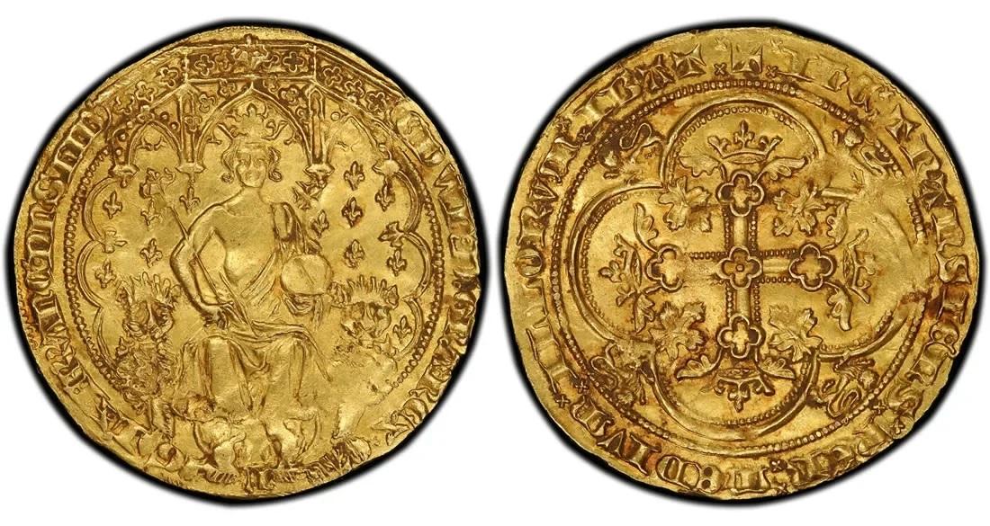 Двойной флорин Эдуарда III 1343