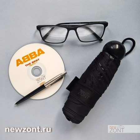Черный карманный зонт купить в Казани