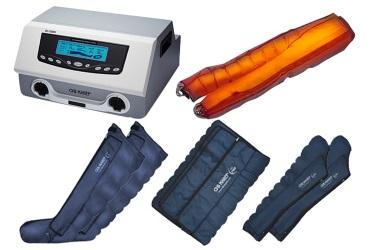 Комплектация Lympha-Tron DL1200L с полным набором манжет и комбинезоном с инфракрасным прогревом