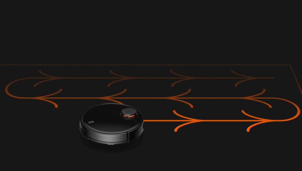 Робот-пылесос Xiaomi Mijia LDS Vacuum Cleaner (черный) особый маршрут уборки