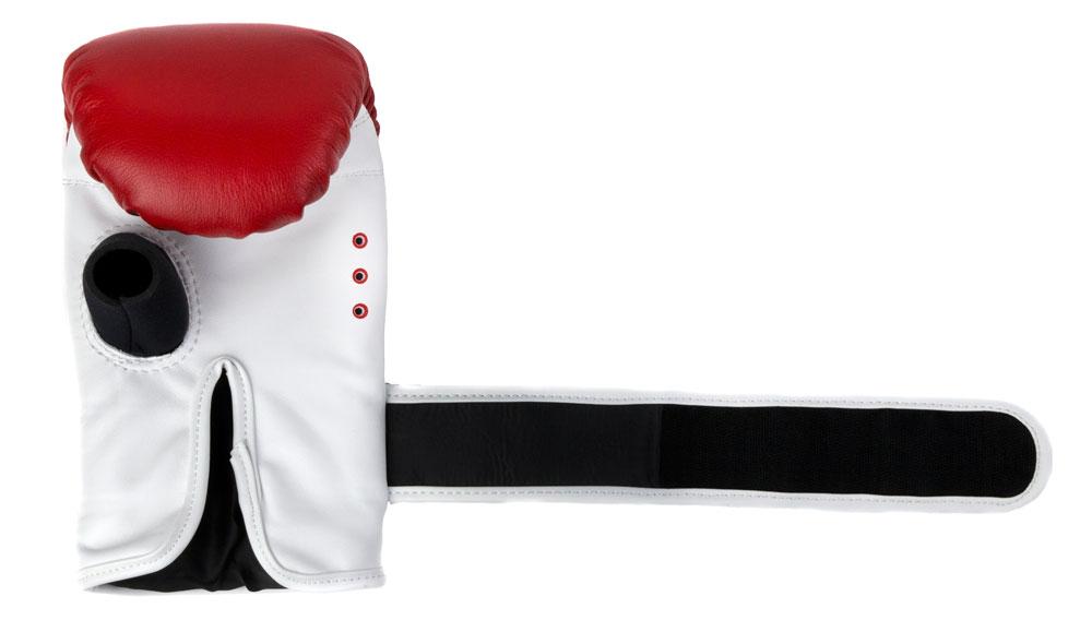 Снарядные перчаткик Dozen Fight Gear красные манжет фиксации