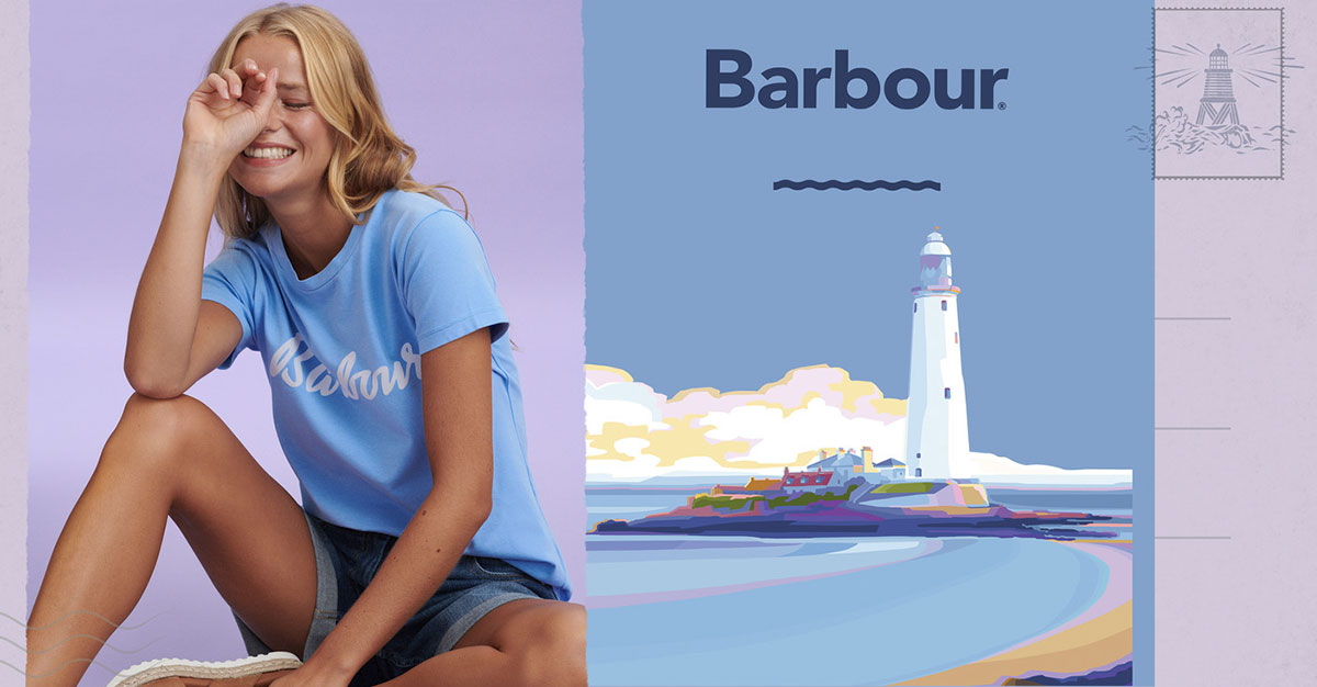 Женская футболка Барбур с логотипом