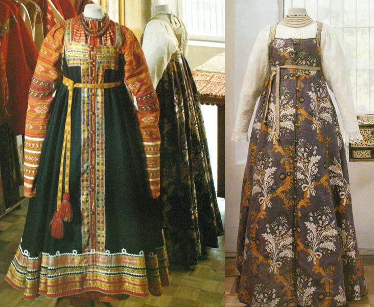 Выкройка русского народного сарафана для женщины