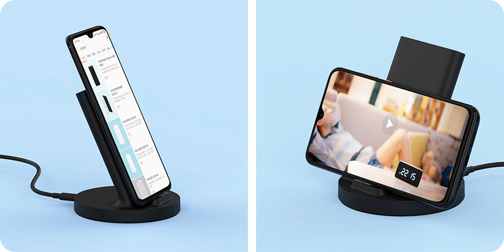 Беспроводное зарядное устройство Xiaomi Vertical 20W Wireless Charger