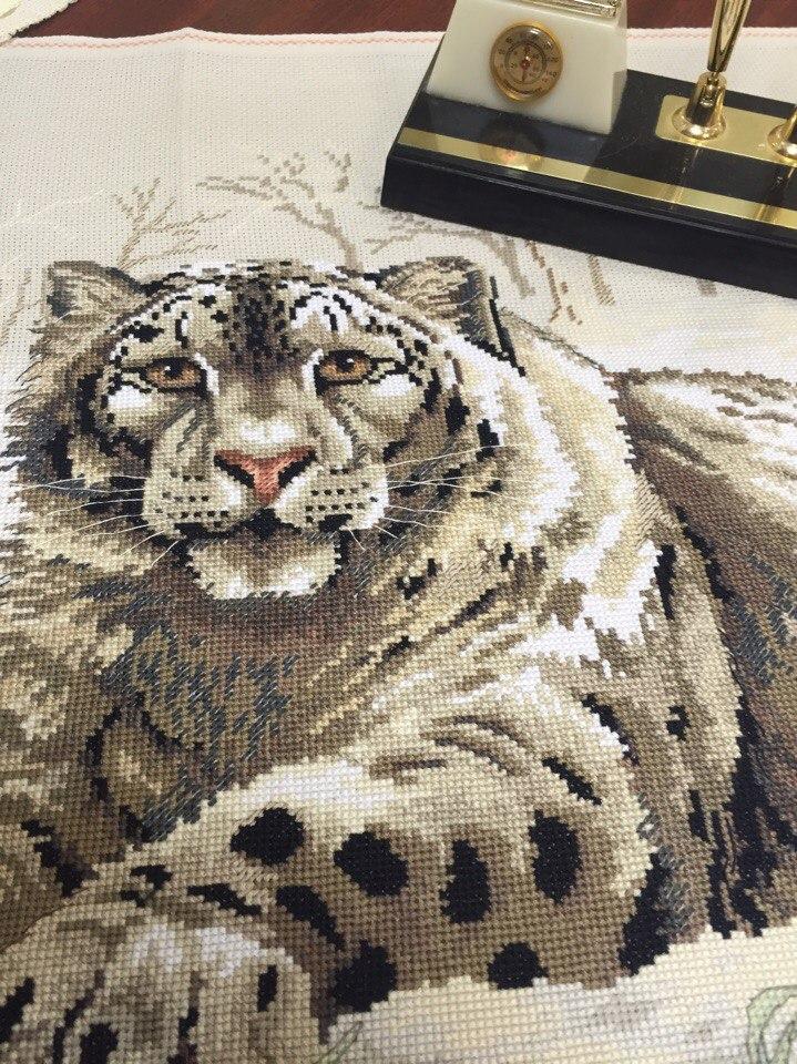 Набор для вышивания. Снежный леопард. The Snow Leopard. Артикул 3835