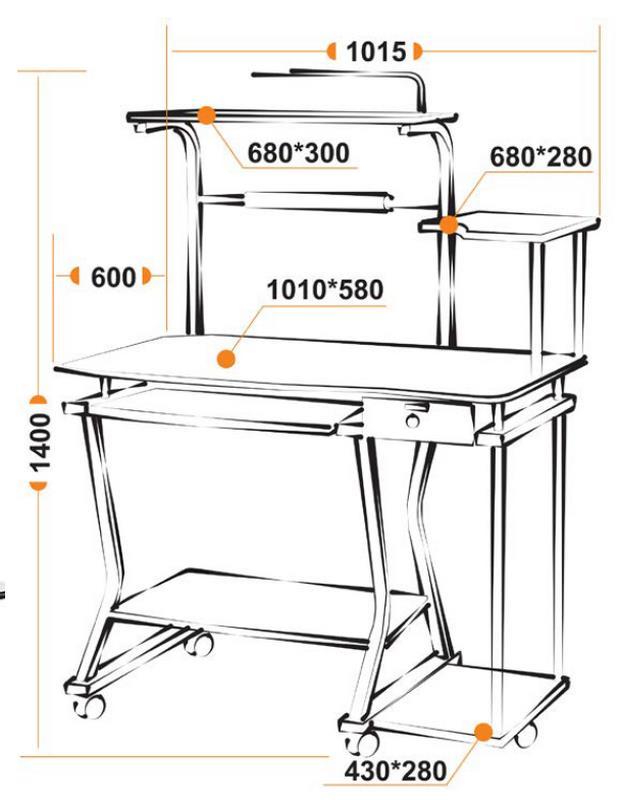 Размеры компьютерного стола ST-S-240