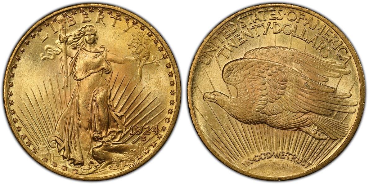 Двойной орел Сен-Годена (экземпляр 1924 года)