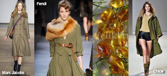 Мода осень-зима 2010-2011, тренд - военный стиль, подборка фото.