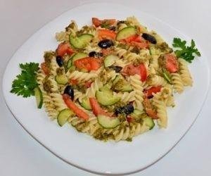 Что приготовить в жару, салат из макарон, рецепт
