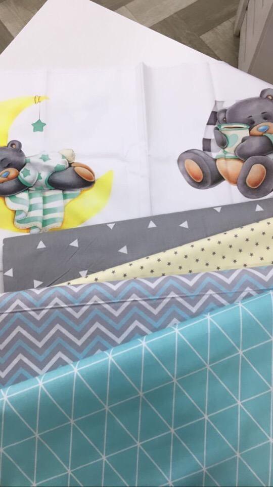Ткани для бортиков в детскую кроватку мальчику