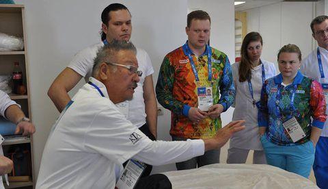 Команда Kinesio начала работу на сочинской Олимпиаде