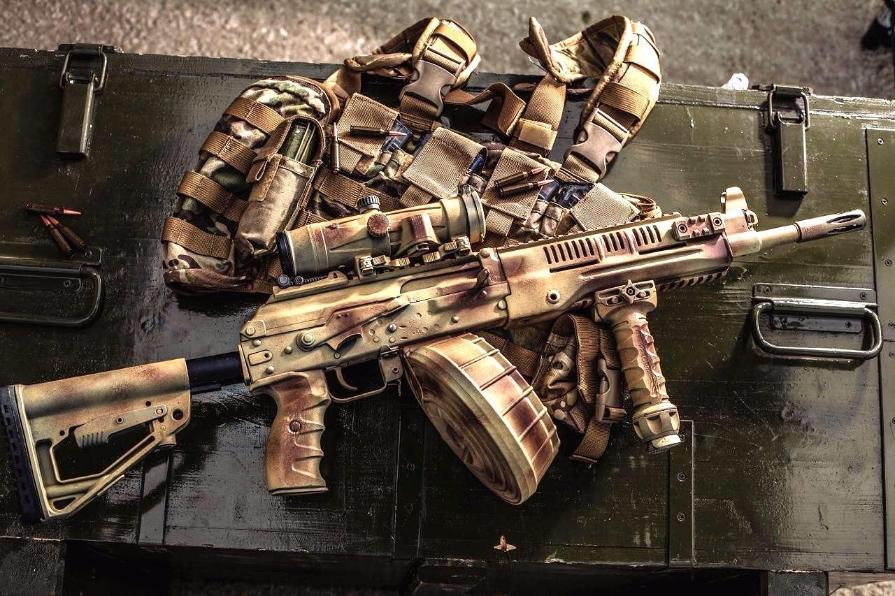 Это инициативная разработка концерна Калашников ПРК-16, замена ручного пулемета Калашникова РПК-74.